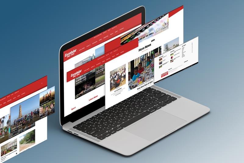 News Website Computer Screens Isometric Slides
