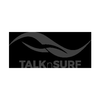 Wireless Internet TalknSurf Logo in grey