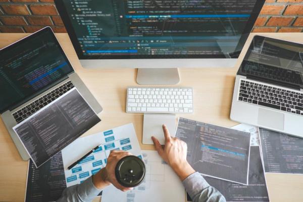 Affordable Website Design - Professional Developer Programmer Working A Software